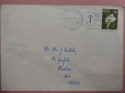 South Africa, Johannesburg Cover with Slogan postmark addressed to the UK via Su