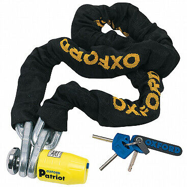 Oxford Patriot Motorcycle Disc Lock & Chain Thatcham Approved 1.5 Metre Of796