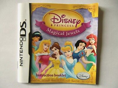 50823 Instruction Booklet - Disney Princess Magical Jewels - Nintendo DS (2007)