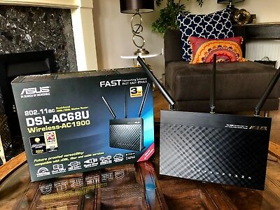 ASUS DSL-AC68U 1900 Mbps Wireless AC Router - Pretty Much Brand New In Box