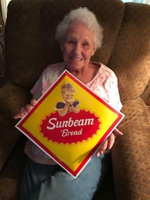 Porcelain Sunbeam Bread It's Batter Whipped Store Sign General Store Sign