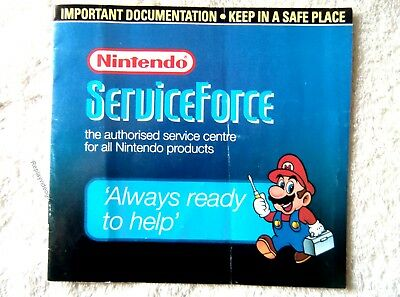 55021 Instruction Insert - Nintendo Service Force - Nintendo SNES ()