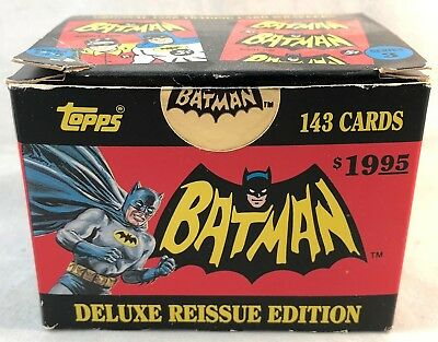 1989 Topps 1966 Batman Deluxe Reissue Complete Set - Red, Blue, Black Bat Sets
