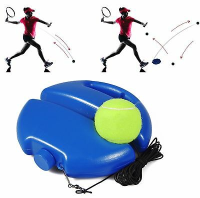 Singles Tennis Trainer Training Practice Balls Back Base Trainer Tools + Tennis!