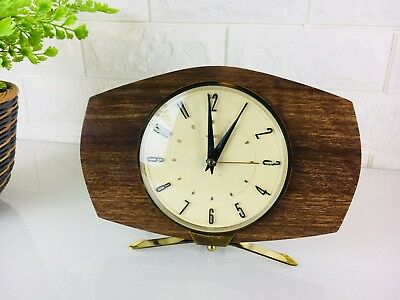 Vintage Retro Metamec Electric Mantle Clock, 1960s, Kitsch