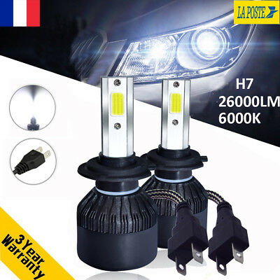 110W 26000LM H7 Voiture CREE LED Ampoule DRL Feux Lampe Kit Phare Blanc 6000K FR