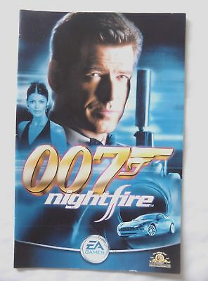 57622 Instruction Booklet - 007 Nightfire - Sony Playstation 2 (2002) SLES 51258