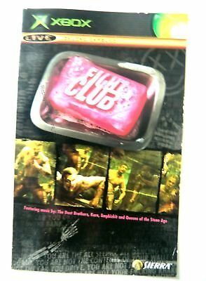 56695 Instruction Booklet - Fight Club - Microsoft Xbox (2004)