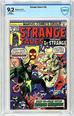 Strange Tales #184 CBCS 9.2 White Pages 1976 Marvel
