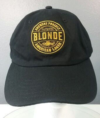 Guinness Blonde Hat Logo Brewers Project American Lager Beer Cap Black
