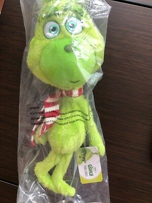 The Grinch movie (2018) Universal Studios Plush Tall Young Grinch w/ Scarf NEW