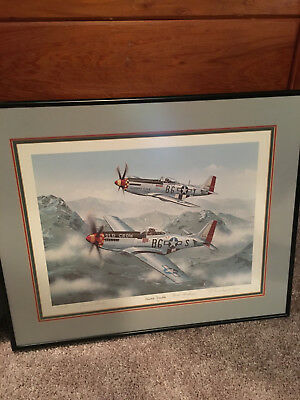 Double Trouble signed Lithograph - Chuck Yeager and Bud Anderson