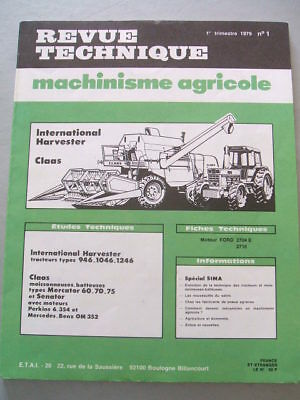 Revue Technique Tracteur Case International Ih  Mc Cormick 946 1046 1246