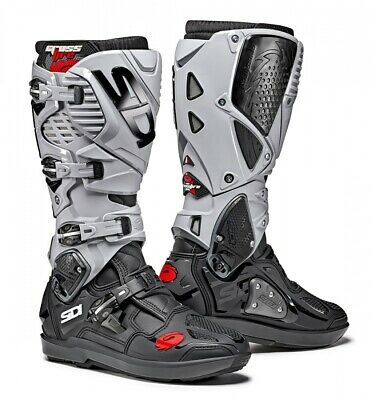Sidi Crossfire 3 SRS Black Ash Motocross MX Motorcycle Boots - Free Shipping