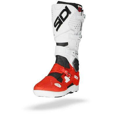 Sidi Crossfire 3 SRS Black Red White Motocross MX Motorcycle Boots - Free P&P