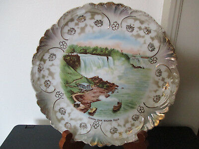 Circa 1915 Souvenir Porcelain Plate General View Niagara Falls New York *