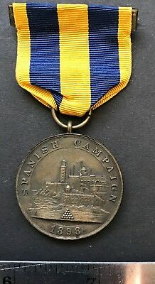 Spanish American War 1898 Spanish Campaign medal Version II, edge numbered 5793