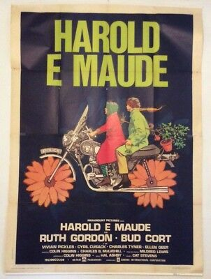"HAROLD & MAUDE huge italian 55""x78"" movie poster HAL ASHBY affiche"