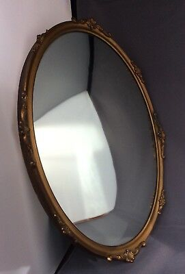 Original Vintage Art Deco Small Oval Wall Mirror By Arco