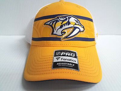 37939d49268 Nashville Predators Cap 2018 Authentic Pro Second Season Adjustable Mesh Hat