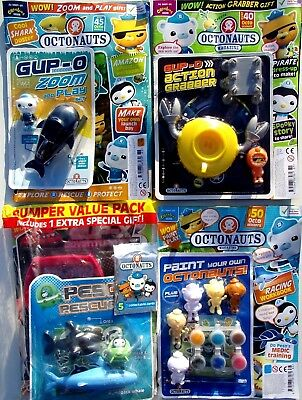 4 x OCTONAUTS MAGAZINES ~ ALL NEW WITH GIFTS ~