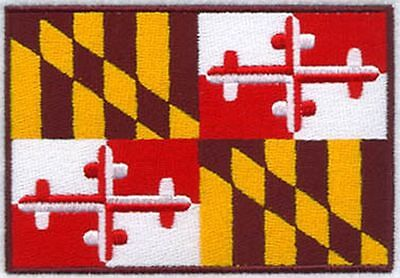 """Maryland State Flag Embroidered Patch 3"""" x 2"""""""