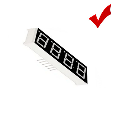0.56 Inch 4 Digit 7 Segment +Decimal Point Red LED Display SM420564 for Arduino