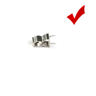 10x Silver Tone Metal Stable Clip Holder Bracket Seat Stand FOR 5x20mm Fuse