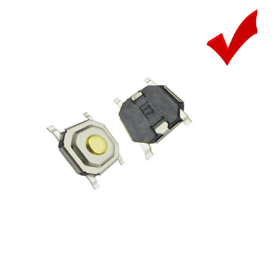 10x Flat Panel PCB Momentary Push Switch 4x4x1.5mm 4Pin Mobile Cell Power Button