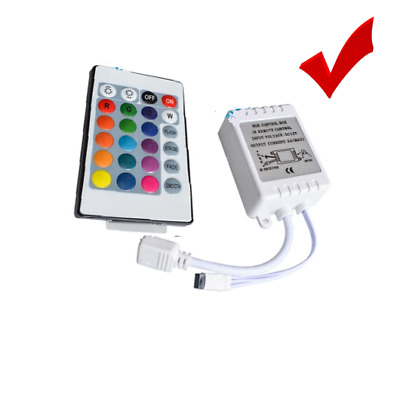 24 Keys LED Lamp Bulb IR Remote Wireless Controller Dimming for RGB 3528 5050