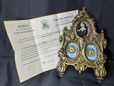 Multireliquary Of St. Mary Bernardette Soubirous+Document,coa,relic,relics