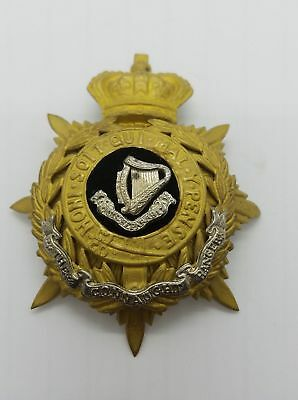 Connaught Rangers British Victorian Army Officer's Home Service Helmet Plate