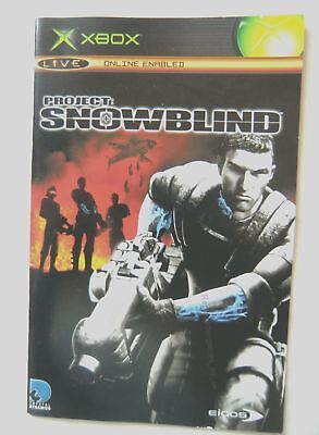 55871 Instruction Booklet - Project Snowblind - Microsoft Xbox (2004)