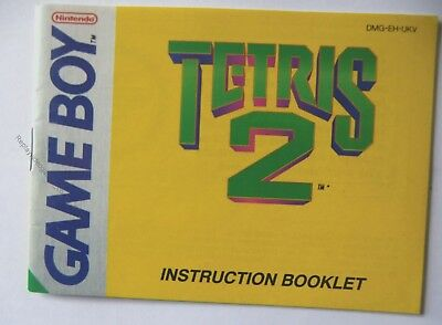 51303 Instruction Booklet - Tetris 2 - Nintendo Game Boy (1989) DMG-EH-UKV