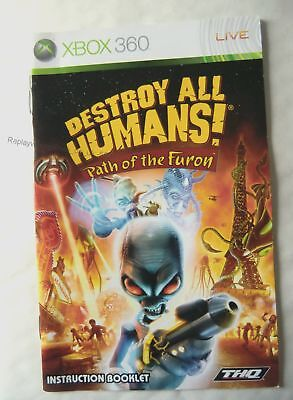 55031 Instruction Booklet - Destroy All Humans Path Of Furon - Microsoft Xbox 36