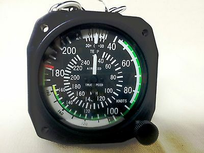 Remanufactured True Airspeed Indicator 40- 210 Knots/40-240 MPH Lighted