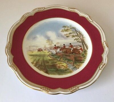 Spode Cabinet Plate 'Full Cry' Hunting Scene