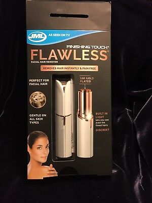 JML Finishing Touch Flawless Facial Hair Remover Discreet Pain-Free Epilator
