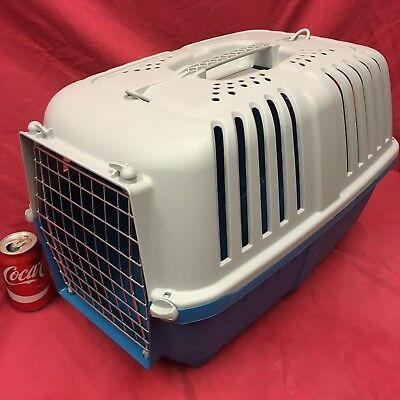 "LARGE Plastic Carrier Box 21 x 13"" Small Dogs Puppy Home Vets Transport Carrying"