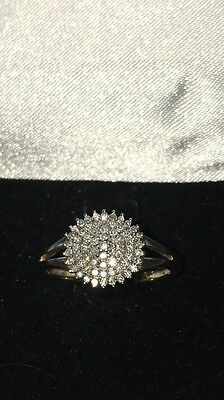 Bague Choux Pavage Diamants Or 18 Carats Taille 54