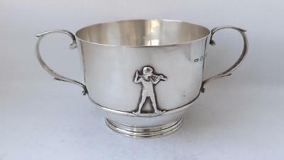 Art Deco Solid Sterling Silver Bowl 1934/ Dia 9.3 cm/ 193 g