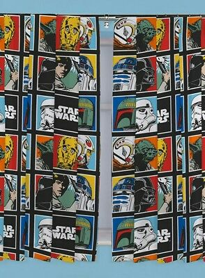 Pack 2 Cortinas Star Wars 168x183 cm cada una.