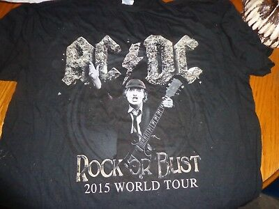 6ad294a081c NEW MENS AC DC Angus Black Ice Tour Rock Concert T-Shirt Size Adult ...