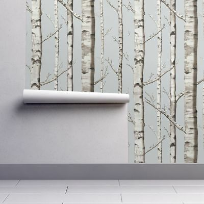 Wallpaper Roll Whitestone Birch Birch Forest Trees Rustic 24in x 27ft