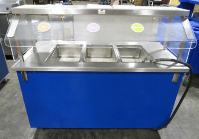 COLORPOINT Commercial Kitchen 3-Well Heated Buffet Table Hot Food Serving Line 1