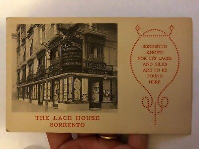 Antique Postcard The Lace House Sorrento Italy