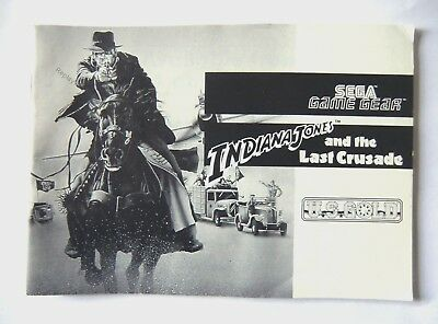 48330 Instruction Booklet - Indiana Jones And The Last Crusade - Sega Game Gear
