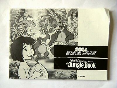 48331 Instruction Booklet - The Jungle Book - Sega Game Gear ()
