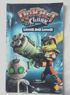 58013 Instruction Booklet - Ratchet & Clank Locked And Loaded - Sony Playsta