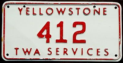 Vintage Retired YELLOWSTONE NATIONAL PARK License Plate – Low #412